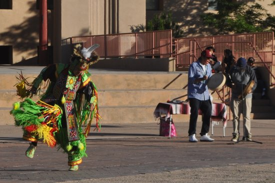 Gallup, NM: Native American Indian dancer, singers and drum