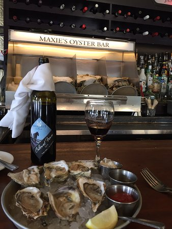 Maxie's Supper Club and Oyster Bar: A local Cab Franc by Hazlitt 1852 Vineyards and raw oysters.  Delicious!