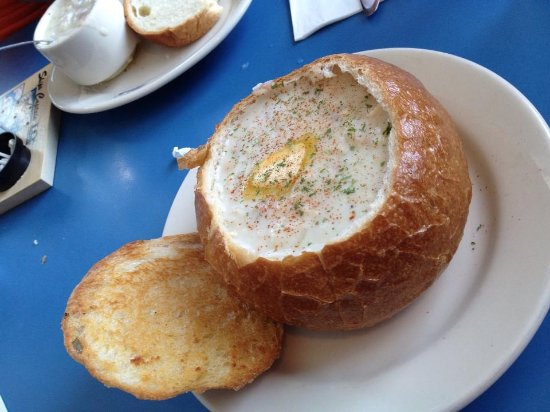 Otter Rock, OR: Clam Chowder in a Bread Bowl
