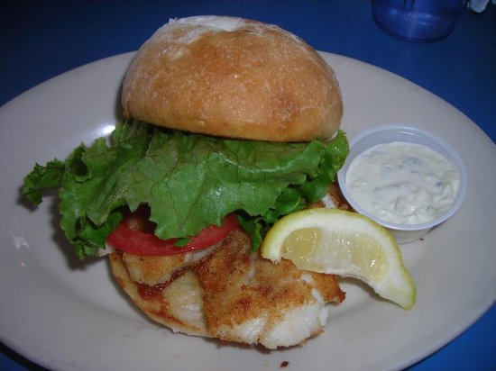 Otter Rock, OR: Halibut sandwich