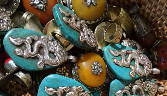 Langley, WA: We find a lot of fascinating pendants and beads.