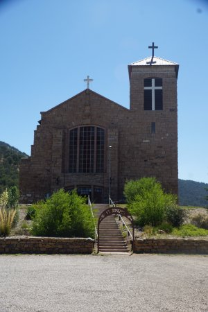 Mescalero, NM: Church Exterior