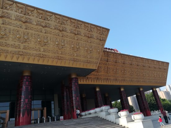 Anyang, China: Exterior view of the museum