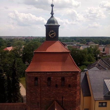 Bernau, Allemagne : מראה העיר ממרומי מגדל הביצורים שבשער העיר העתיקה
