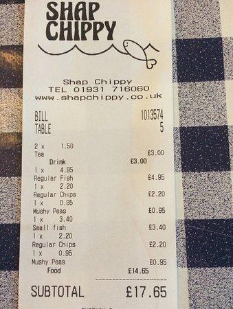 Shap Chippy: Very reasonably priced