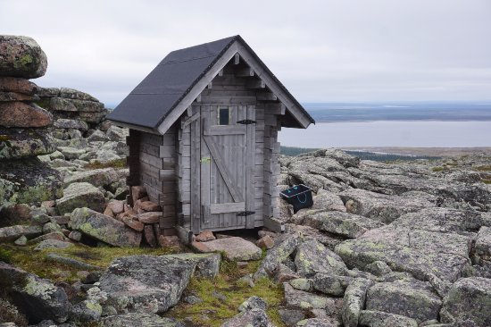 Sodankyla, Finlandia: An outhouse with a view