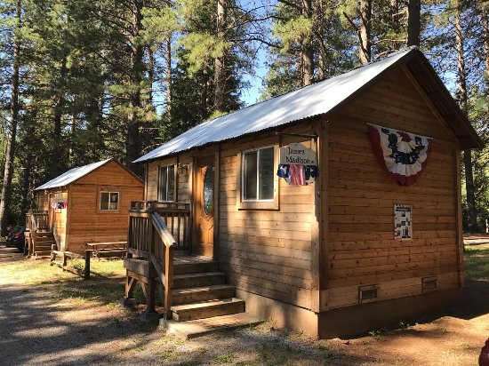 Shingletown, CA: These are the camping cabins.