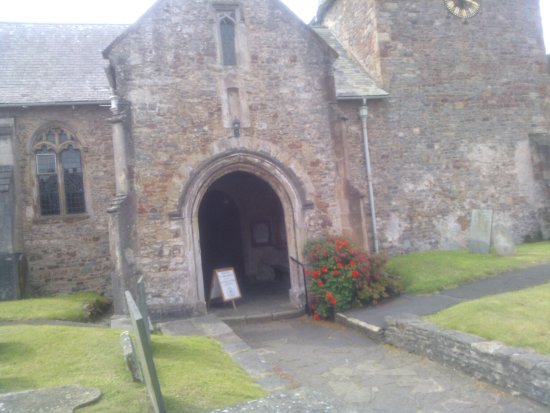 The Cottage: St. Dubricius Church, Porlock dedicated to 6th century Welsh saint Dyfrig