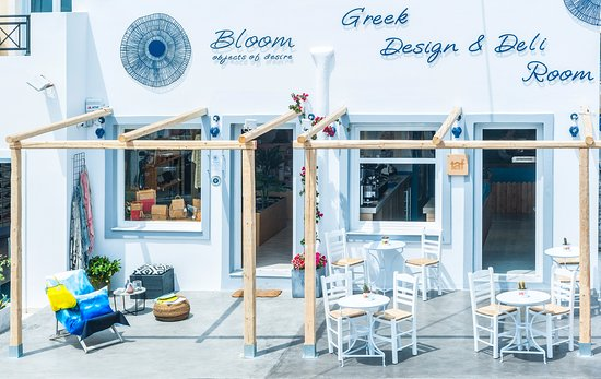 Bloom Greek Design & Deli room