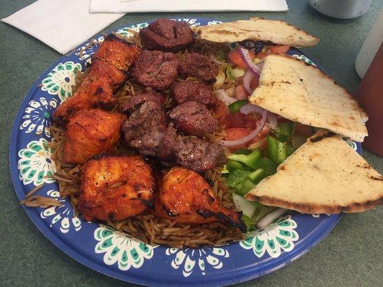 Chicken & Lamb Shish Kebab - Royal Fish 'N Chips Mediterranean Grill, Bethel CT