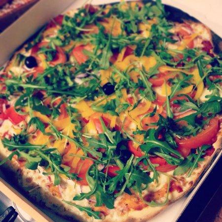 Mieussy, Frankrig: Veggie pizza
