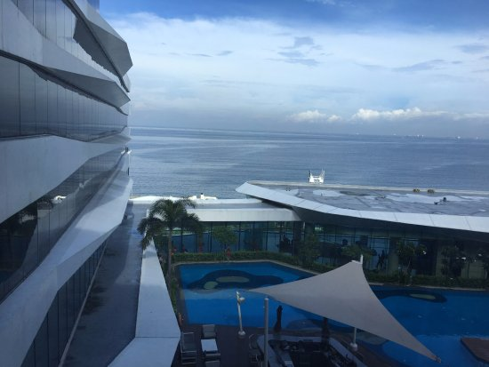 Looking Out Over The Pool To The Ocean Picture Of Conrad Manila Pasay Tripadvisor
