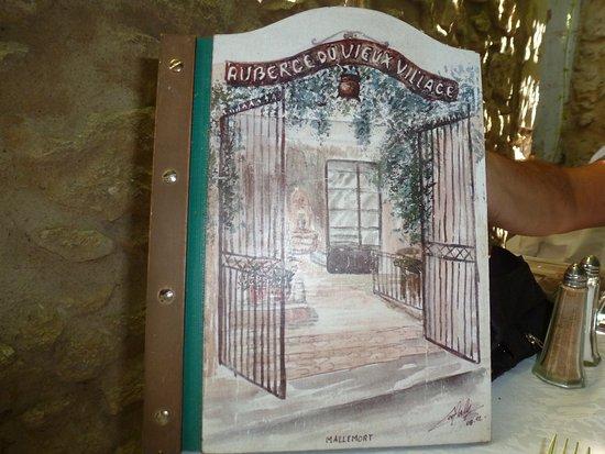 Auberge du Vieux Village: La carte