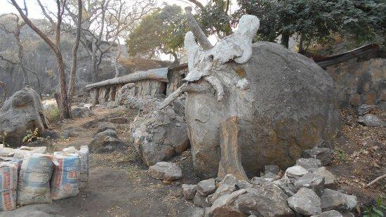Lokoja, Nigeria: Elephant on a mountain