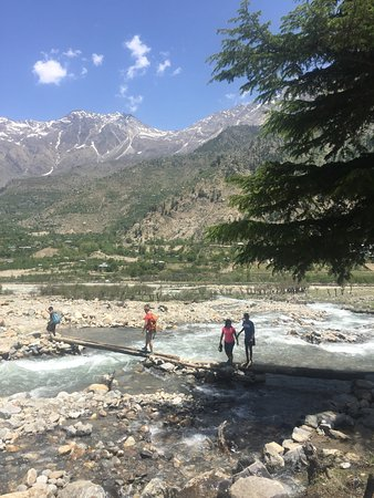 Sangla, India: On way to the trout farm from the camp, India's first established in 1925.