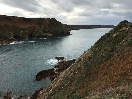 St Mary, UK: Devils Hole Jersey looking out to see
