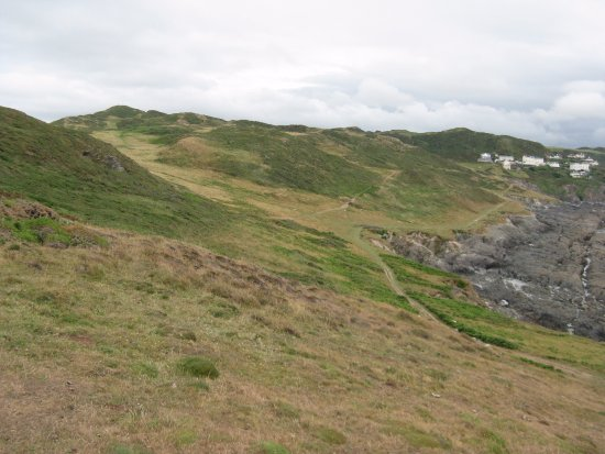 Mortehoe, UK: Looking inland back from Morte Point.