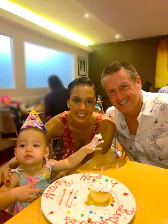 Maraval, Trinidad: Remi & her parents celebrating her 1st birthday. Wishing many more amazing years ahead.From your