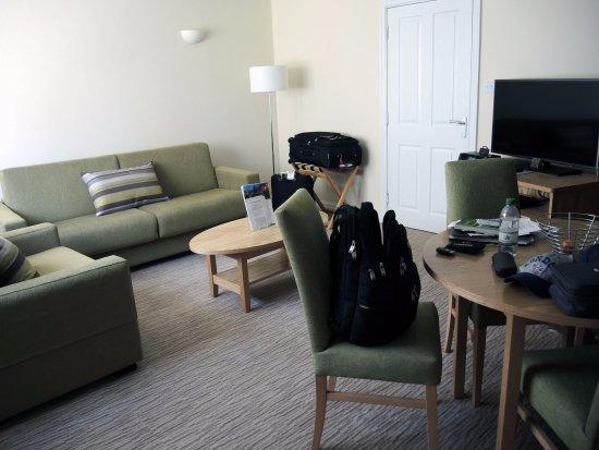 Thurnham, UK: Living area of 1-bedroom apartment