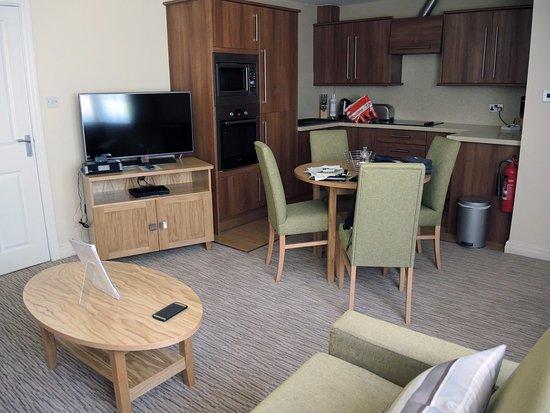 Thurnham, UK: Kitchen area of 1-bedroom apartment