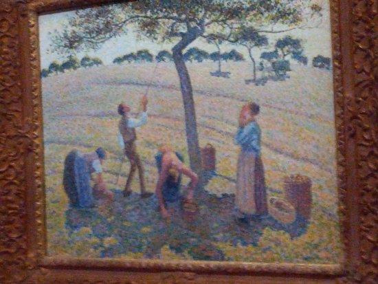 Musée Marmottan : quadro di Pissarro, la raccolta delle mele, emblema della mostra