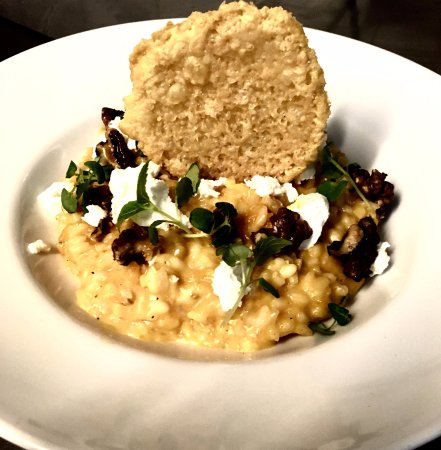 Le Delice : Butternut, walnut and goat cheese risotto