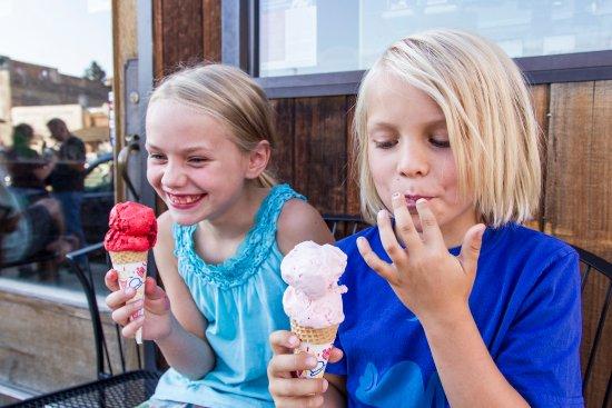 Homemade ice cream delights in Virginia City, Montana