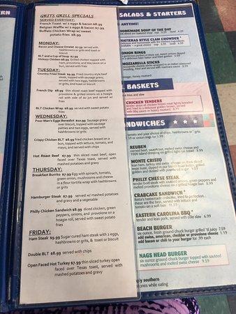 specials menu