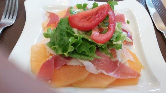 Valence, Francia: carpaccio de melon