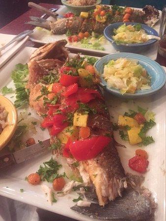 Gazala Place: Grilled branzini