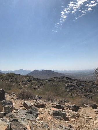 South Mountain Park : View from the top, downside of the parking lot.