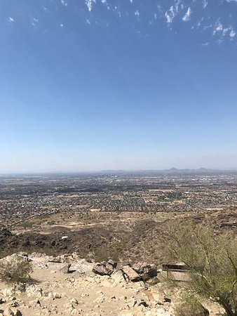 South Mountain Park: View from the top, downside of the parking lot.