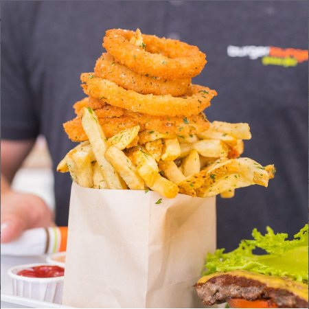 Burger Lounge: Half and Half (for two!)