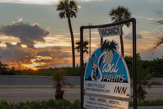 Sabal Palms Inn: Sunset from Sabal Palms Rain out in the gulf Turtle nests are protected