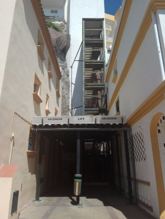 Calle San Miguel: This is the entrance to the lift 50 cents per person, well worth it