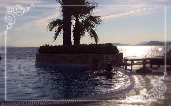 Le Meridien Lav Split: The pool with sea view