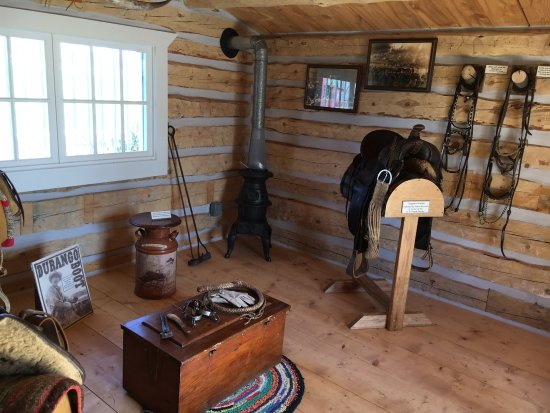 Hardin, MT: Cowboy and Ranch Life exhibit in the Will James Cabins