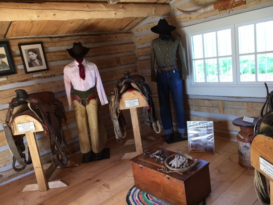 Hardin, MT: Cowboy and Ranch Life exhibit in the Will James Cabins.