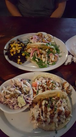 Grilled Lemon Shrimp Tacos With Black Beans And Rice Bbq Mahi Tacos