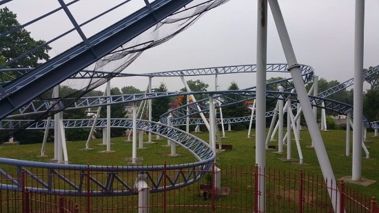 Scotch Plains, NJ : Crossbow coaster at the back of the park