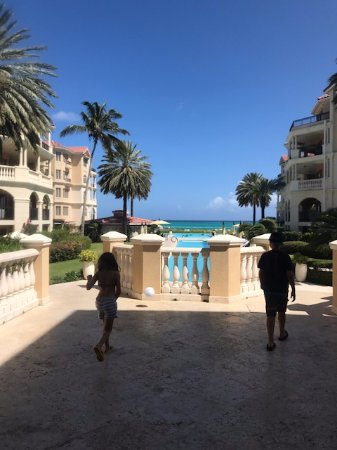 The Somerset on Grace Bay: walkway out to the pool and the beach
