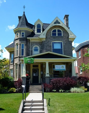 This beautiful old home is home to The Cup & Cake, 38 Ridout Street West in Tillsonburg .