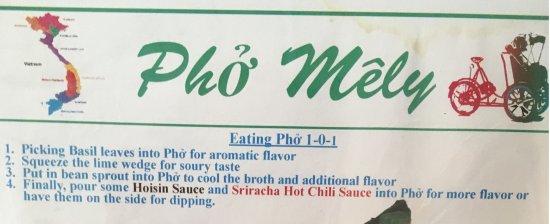 Bellflower, CA: Eating directions
