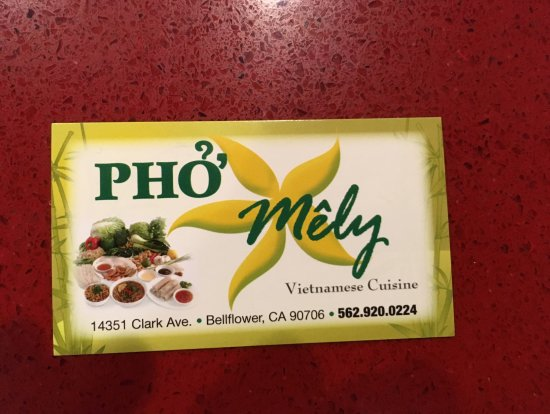Bellflower, CA: Business card Front