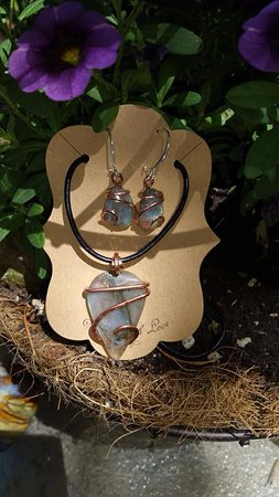 Rock Your World: Pacific Northwest Gem & Jewelry Gallery: Pendant and earring set - need to see the site for more pictures. Amazing!!!!!