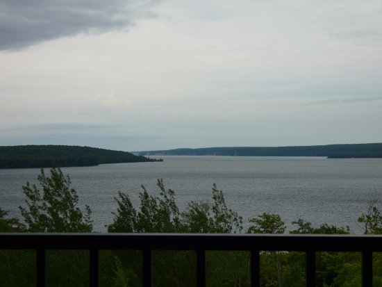 Holiday Inn Express Munising -  Lakeview: View from our room the night we arrived. Pictured rocks in the distance.