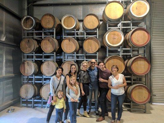 Ocean View, Australia: The port barrels inside the winery