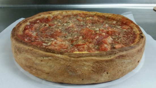 Tortugas Pizza: Chicago Stuffed Pizza Traditional Special