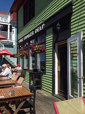 Salt Shaker Deli and Inn: The patio at the Salt Shaker Deli - a great spot to take it all in