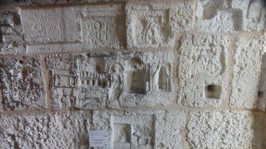 Tour de la Lanterne: some of the carvings inside